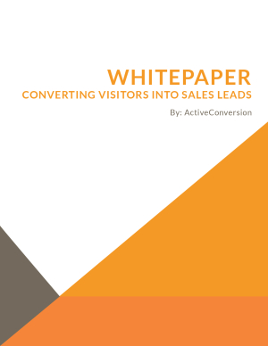 Converting Visitors into Sales Leads