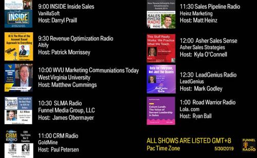 Tweet-todays-funnelradio-lineup-20190530